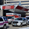 A UHaul filled with toys arrives at Connecticut Children's Medical Center