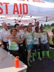 ASM in 'Run or Dye' 5k, Most Interesting Ambulance Crew in the World