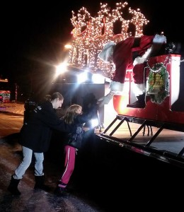 Santa Visits Victim of Fire in Somers