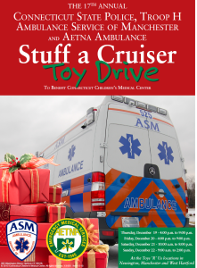 State Police, Aetna and ASM Toy Drive to Benefit Connecticut Children's