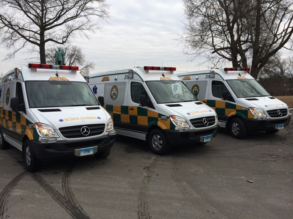Three New Aetna Ambulances