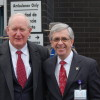 Wayne Wright (L) and CCMC President Marty Gavin