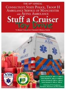 State Police, ASM and Aetna Toy Drive to Benefit Connecticut Children's