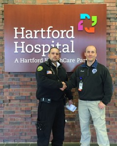 Juan Rodriguez (L) with Hartford Hospital's Dave Bailey