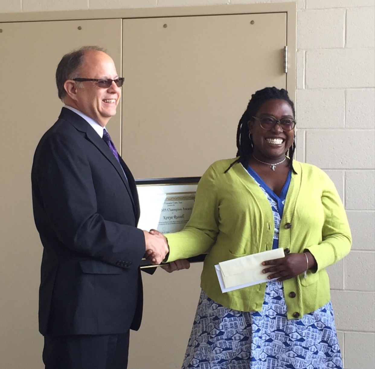 ASM's Kenya Russell Receives Saint Francis 2015 EMS Champion Award