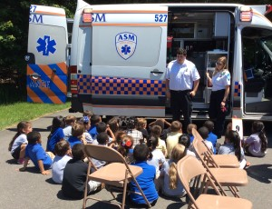 ASM's McHugh and Baker at Pitkin School Career & Community Helpers Day