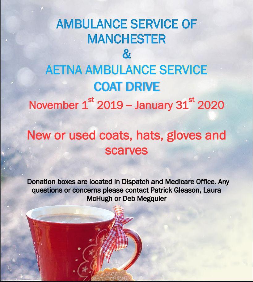 2019 ASM & Aetna Coat Drive