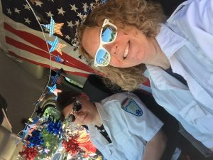 Stephanie Boutot Represents ASM in Boom Box Parade, 2016