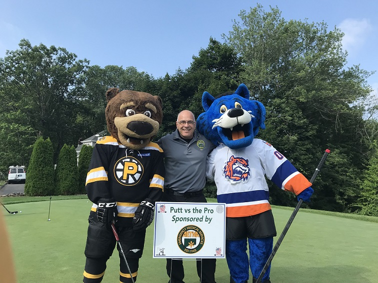 Aetna Visits Kids Charity Golf Event