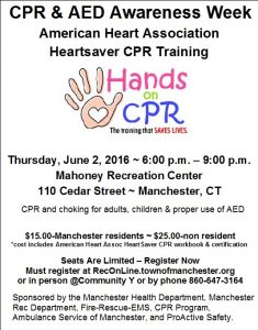 ASM participates in CPR & AED Awareness Week: Heartsaver CPR Training