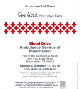 ASM Blood Drive Reminder