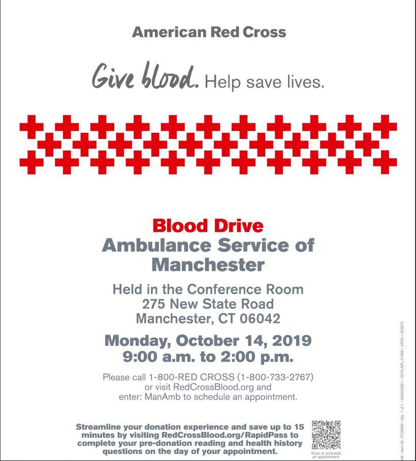 ASM Blood Drive Reminder