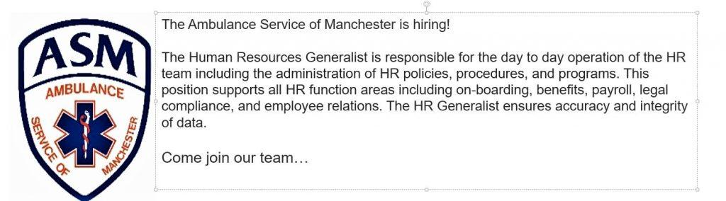 ASM Seeking HR Generalist