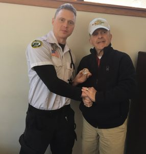 Aetna Paramedic Receives Challenge Coin