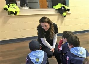 ASM Visits Cub Scout Troop in Manchester