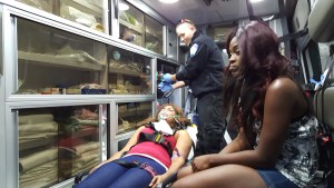 Aetna Ambulance Crew Assists Film Crew