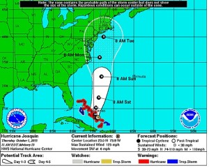 State is Monitoring Forecast for Hurricane Joaquin