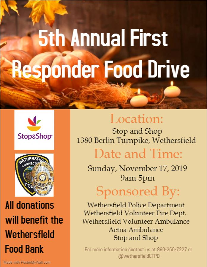 Aetna to Attend Wethersfield First Responder Food Drive