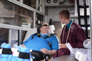 Hospital-Bound Dad Gets to See Son's High School Graduation