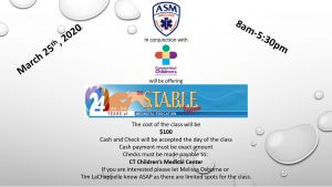 ASM TO HOST CCMC STABLE CLASS