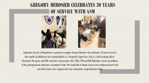 Gregory Derosier Celebrates 30 Years of Service with ASM