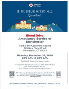 ASM to Host New Year's Eve American Red Cross Blood Drive