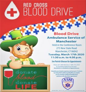 ASM to Host American Red Cross Blood Drive